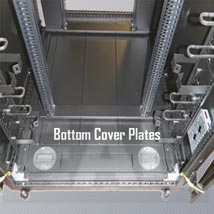 Bottom Cover Plates for use with 19-Inch Rack